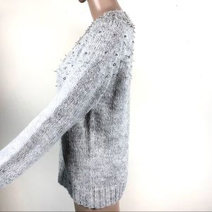 Superdry Sweaters - SUPERDRY London embellished gray pullover sweater
